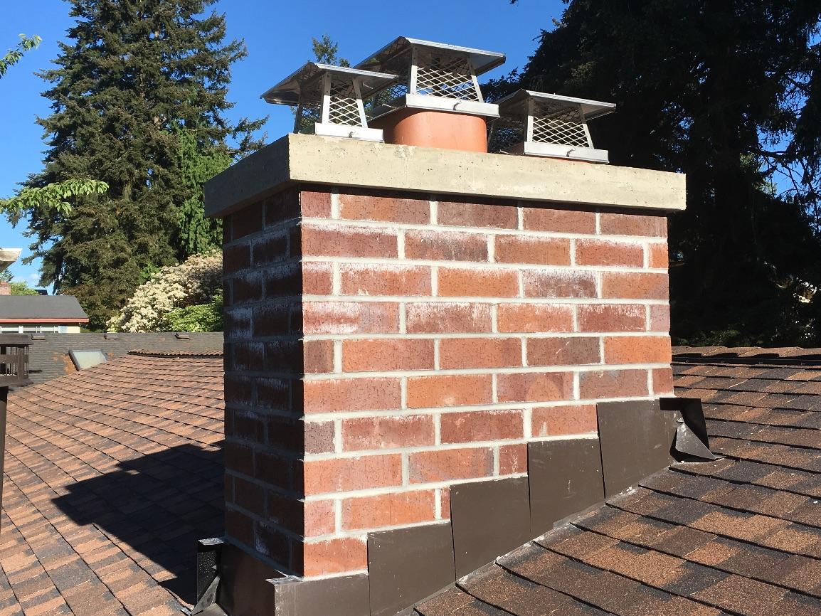 Shoreline Chimney Rebuild Pinnacle Roofing Professionals
