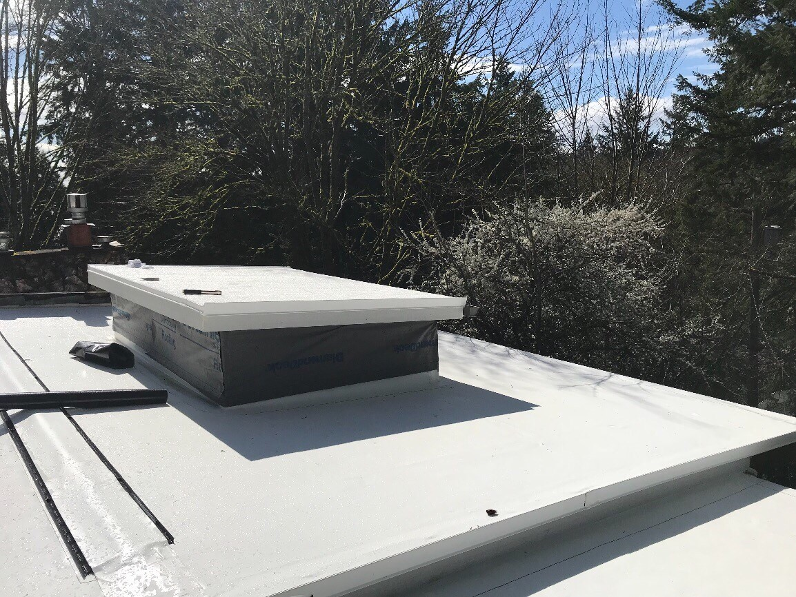 Lake Forest Park Pvc Roof Project Pinnacle Roofing Professionals Llc